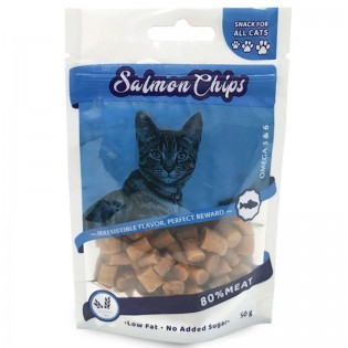 NATURALISTIC SALMON CHIPS FOR CATS 12 UNIDADES